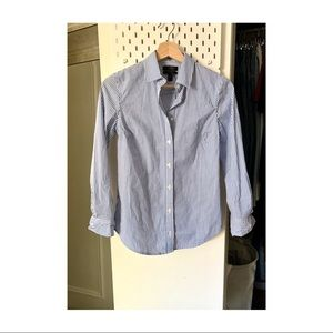J. Crew Perfect Shirt in blue stripes